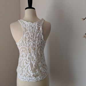 Abercrombie & Fitch Tops - A&F Festival Crochet Lace Summer White Tank Top XS
